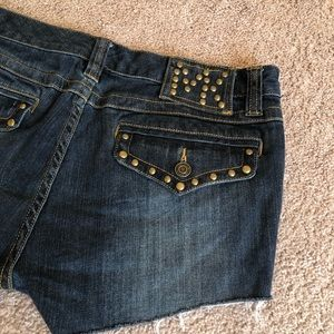 MICHAEL KORS studded dark wash shorts Size 10